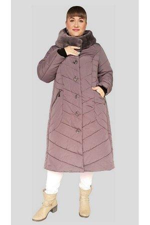 Куртка женская зимняя Оливия (60-72) светлый шоколад