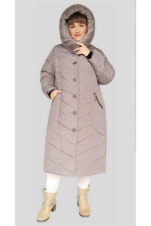 Куртка женская зимняя Оливия (60-72) бежевая