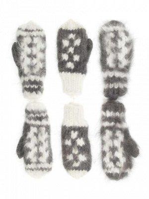 6-20 Варежки детские из пуха кроликас