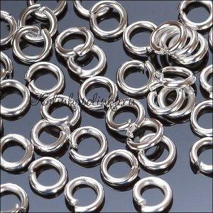 Колечки соединительные, цвет серебро, железо, р-р 5х1мм