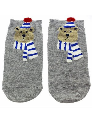 "Короткие носки р.35-40 ""Bear and dog"" Мишка Сибиряк"