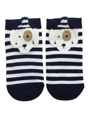 "Короткие носки р.35-40 ""Bear and dog"" Белый бим"