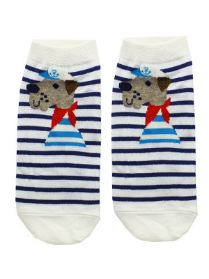 """Короткие носки р.35-40 """"Bear and dog"""" Морячок"""