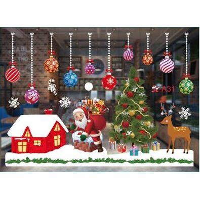 💫Новый 2021 год! Много подарков и декора!💫 — наклейки на стены, окна (средние) — Все для Нового года