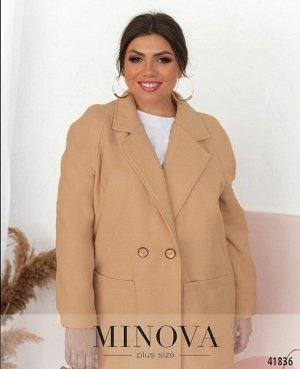 Пальто №12662-1-молочный