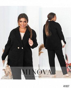 Пальто №12662-1-черный