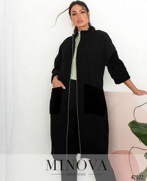 Пальто №14702-1-черный