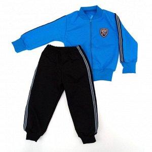 Спортивный костюм 0288/5 (т. бирюза, нашивка)