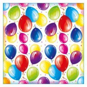 "Салфетки ""Яркие шары"", 33х33, 12 шт."