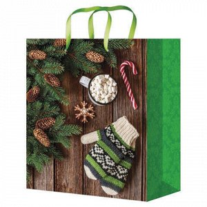 """Пакет подарочный 26,4x32,7x8 см, """"Праздничные моменты"""", ламинированный, ПКП-8877"""