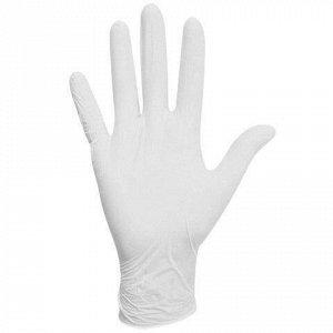 Перчатки латексные белые, 50 пар (100 шт.), опудренные, прочные, размер M (средний), ЛАЙМА, 605021