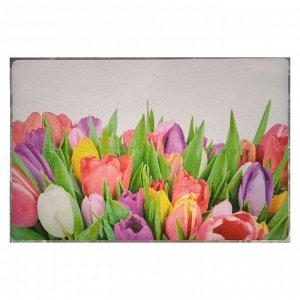 """Наклейка на кафельную плитку """"Букет разноцветных тюльпанов"""" 60х90 см"""