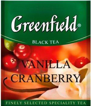 Чай Гринфилд Vanilla cranberry black tea термосаше в п/э уп. для Horeka 1,5г 1/100/10