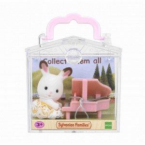 """Набор """"Младенец в пластиковом сундучке """" (кролик и рояль)"""