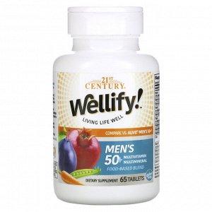 21st Century, Wellify, Men&#x27 - s 50+, Multivitamin Multimineral, 65 Tablets