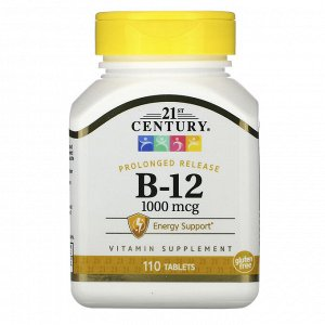 21st Century, B-12, 1000 мкг, 110 таблеток