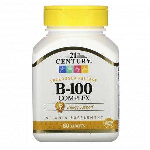 21st Century, Комплекс B-100 пролонгированного высвобождения, 60 таблеток