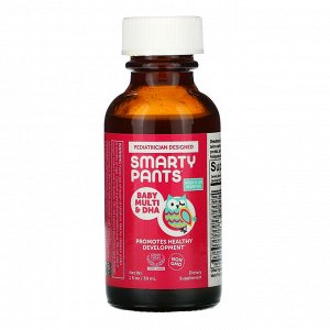 SmartyPants, Baby Multivitamin & DHA , Ages 6-24 Months, 1 fl oz (30 mL)