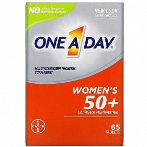 One-A-Day, Women's 50+ Complete Multivitamin, 65 Tablets