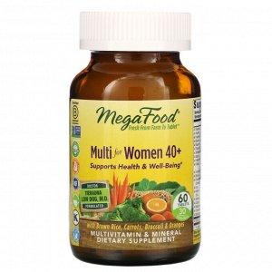 MegaFood, комплекс витаминов и микроэлементов для женщин старше 40 лет, 60 таблеток