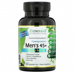 Emerald Laboratories, Coenzymated Men&#x27 - s 45+ 1-Daily Multi, 60 Vegetable Caps