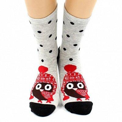 Теплые носочки Hobby Line! Новогодние! Ангора, махра  — Носки женские новогодние. ИНТЕРЕСНЫЕ ПРИНТЫ! — Носки