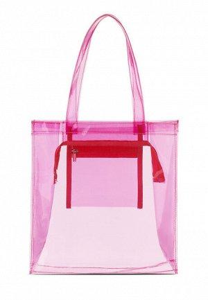 Сумка прозрачная розовая