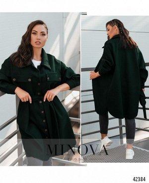 Пальто-кардиган №912-темно-зеленый