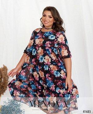 Платье №8620-2Б-темно-синий