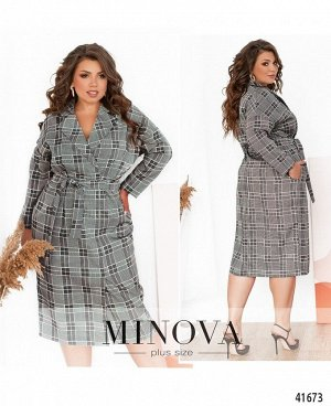 Платье №1902-1-серый