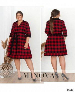 Платье №273Б-красный