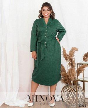 Платье №19-038-Зелёный