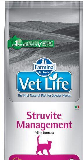Farmina Vet Life Cat Management Struvite диета сухой корм для кошек профилактика рецидивов МКБ 10кг