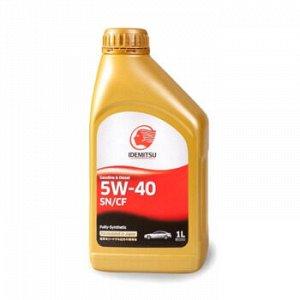 Масло моторное IDEMITSU FULLY-SYNTHETIC 5W40 SN/CF бензин, синтетика 1л