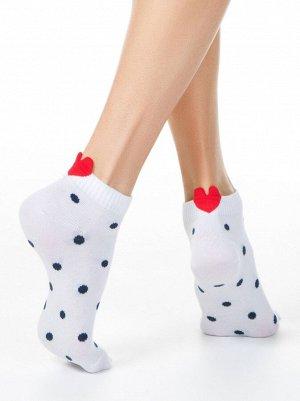 Active Носки женские укороченные  с пикотом-«сердечком»