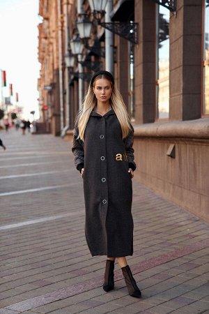 Костюм Костюм Vesnaletto 2433-2  Состав ткани:Пальто: ПЭ-70%; Спандекс-3%; Шерсть-27%; Жилет: ПЭ-100%;  Рост: 164 см.  Комплект пальто и жилет.  Пальто с капюшоном, выполнено из пальтовой ткани (без