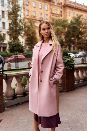 Пальто Пальто Vesnaletto 2437-1  Состав ткани:Пальто: ПЭ-90%; Шерсть-10%; Подкладка: ПЭ-100%;  Рост: 164 см.  Пальто свободное, со спущенным плечом и широкими рукавами. Выполнено из пальтовой ткани,