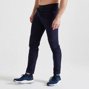 Брюки для фитнеса и кардиотренировок мужские темно-синие 500 DOMYOS