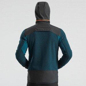 Толстовка флисовая теплая для походов мужская SH500 X-WARM QUECHUA