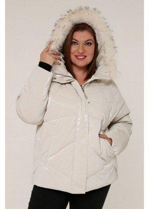 Женская зимняя куртка 20535 Бежевый