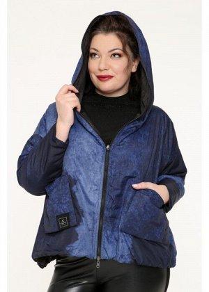 Женская короткая куртка 19651, двухсторонняя
