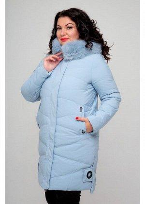 Женское зимнее пальто, 026-81, Голубой