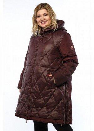 Женское пальто, 19206, Бордовый