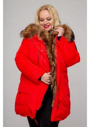 Женская зимняя куртка-парка, А-833-71, Красный
