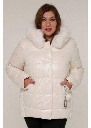 Женская зимняя куртка 20425 Молочный