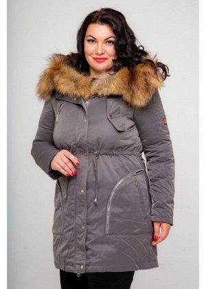 Женская зимняя куртка-парка, 355-81, Сиренево-Серый