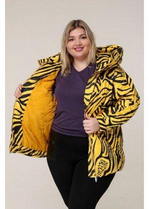 Женская зимняя куртка 20317 Зебра желтая