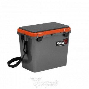 Ящик рыболовный зимний односекционный серый/оранжевый Helios (HS-IB-19-GO-1)