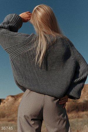 Oversize-джемпер в джинсовом оттенке