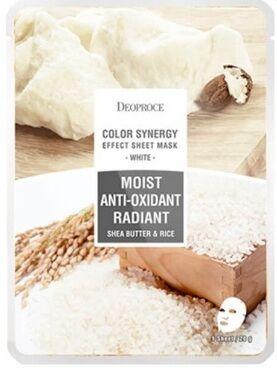 Тканевая маска с маслом ши и рисовой водой